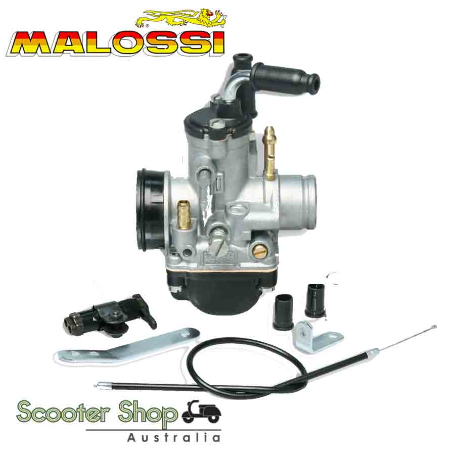 MALOSSI CARBURETTOR PHBG19 BS for PIAGGIO, VESPA AND APRILIA 50cc Engines.