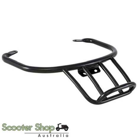 ZELIONI REAR SPORT RACK FOR VESPA GTS IN BLACK