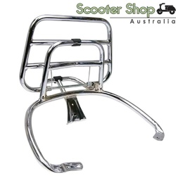 genuine vespa foldable chrome rear rack for primavera and sprint