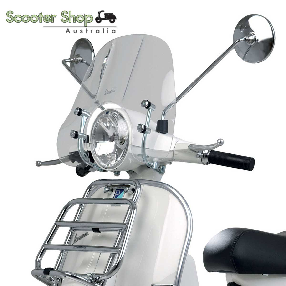 Vespa Genuine Short Clear Flyscreen for PX 150 and PX 200